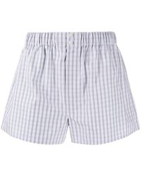 Brioni Check Relaxed-fit Boxers - Blue