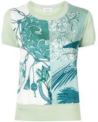 Ferragamo Short Sleeved Printed T-shirt - Green