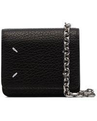 Maison Margiela Stitch-detailed Mini Leather Cross Body Bag - Black