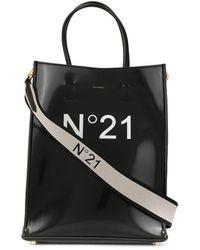 N°21 Logo-print Tote - Black