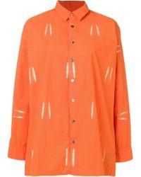 Suzusan - Bleached Effect Shirt - Lyst
