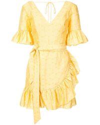 C/meo Collective Tie waist ruffle mini dress - Giallo
