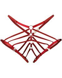 Bordelle Art Deco Ouvert Briefs - Red