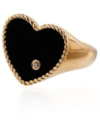 Yvonne Léon 9kt Yellow Gold Diamond Ring - Metallic