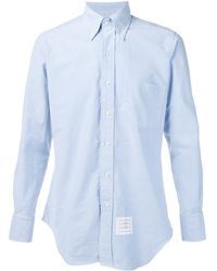 Thom Browne グログランプラケット オックスフォードシャツ - ブルー
