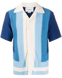 CASABLANCA ストライプ ニットシャツ - ブルー