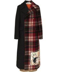 Gucci Двубортное Пальто - Многоцветный