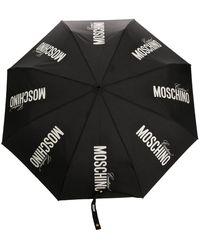 Moschino レオパードプリント 傘 - ブラック