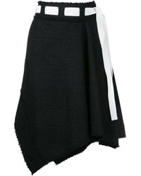 Proenza Schouler アシンメトリースカート - ブラック