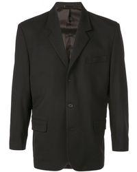 Second/Layer Boxy Suit Jacket - Black
