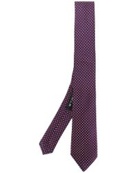 Etro - Dot Embroidered Tie - Lyst