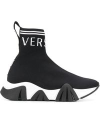 Versace Кроссовки-носки С Логотипом - Черный