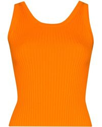 Matériel Ribbed Knit Tank Top - Orange