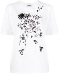 Saint Laurent - グラフィック Tシャツ - Lyst