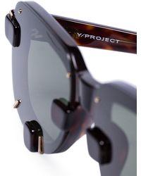 Linda Farrow X Y/project Yp5c3 Sunglasses - Black