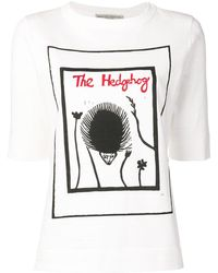 Holland & Holland The Hedgehog プリント Tシャツ - ホワイト