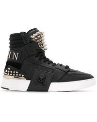 Philipp Plein Phantom Kicks stud-embellished sneakers - Noir