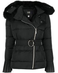 Class Roberto Cavalli - Fur Trim Padded Jacket - Lyst