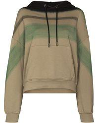 Eckhaus Latta Gradient Stripe Hooded Sweatshirt - Multicolour