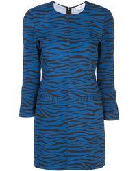 A.L.C. タイガープリント ドレス - ブルー