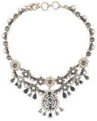 Marchesa Short Chandelier Necklace - Metallic