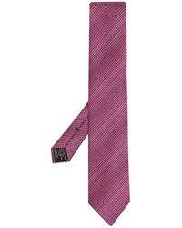Tom Ford Галстук С Геометричным Градиентным Узором - Розовый
