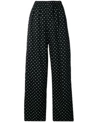 Balenciaga ブラック オーバーサイズ デジタル ラウンジ パンツ