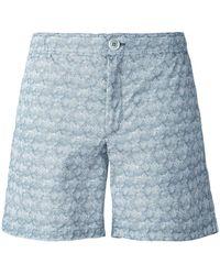 Fashion Clinic Lines Print Swim Shorts - Gray