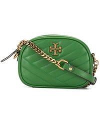 Tory Burch Kira Chevron-quilted Crossbody Bag - Green