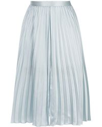 Fleur du Mal Lace Insert Pleated Skirt - Blue