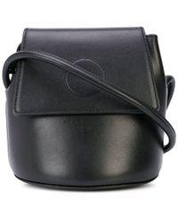 Modern Weaving Trapeze Kleine Bucket-tas - Zwart