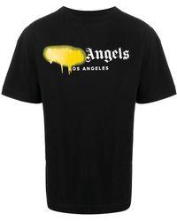 Palm Angels Logo Printed T-shirt - Black