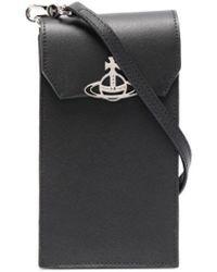 Vivienne Westwood Orb Plaque Phone Pouch - Black