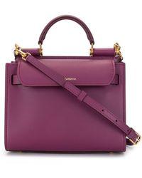 Dolce & Gabbana Маленькая Сумка-тоут Sicily 62 - Пурпурный