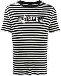 Just Cavalli - ストライプ ロゴ Tシャツ - Lyst