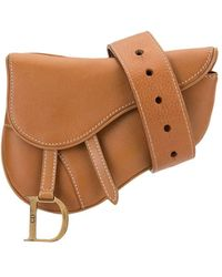 Dior Sac banane Saddle pre-owned - Marron