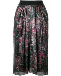 Isabel Marant Floral printed skirt - Nero