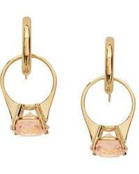 Burberry Crystal drop hoop earrings - Metallizzato