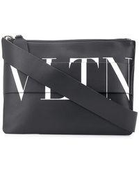 Valentino Valentino Garavani Vltn Printed Messenger Bag - Black