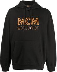 MCM ロゴ ドローストリング パーカー - ブラック