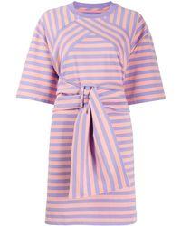 Marc Jacobs Платье-футболка The Striped - Розовый