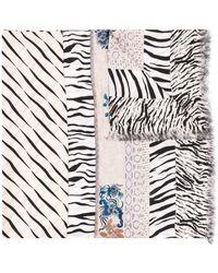 Pierre Louis Mascia Silk Zebra Print Scarf - Multicolor