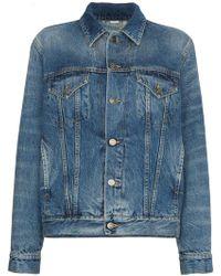 615fa616060 Gucci - Veste en jean à appliqués au dos - Lyst