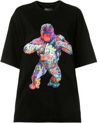 Juun.J Gorilla Print T-shirt - Black