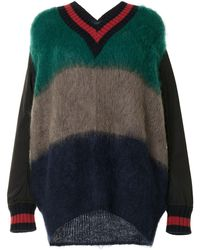 Kolor オーバーサイズ セーター - ブラック