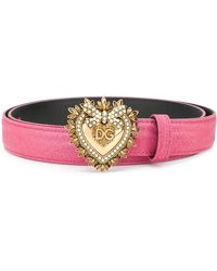 Dolce & Gabbana - Devotion Buckled Belt - Lyst