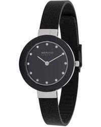 Bering Milanese Strap Watch - Black
