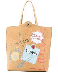 Lanvin Borsa tote Grocery con stampa grafica - Multicolore
