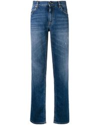 Dolce & Gabbana - Logo Embroidered Straight Leg Jeans - Lyst