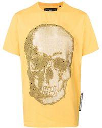 Philipp Plein Футболка С Декором Skull - Желтый
